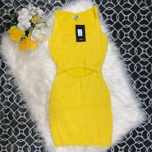 Waist Cut Out Fuzzy Dress